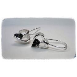 Silberner Ohrhänger mit...