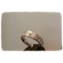 Weißgold-Ring mit Brillanten