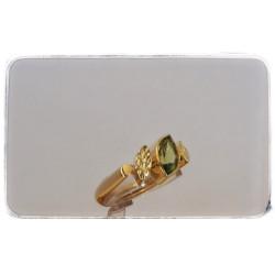 Gelbgold-Ring mit Peridot
