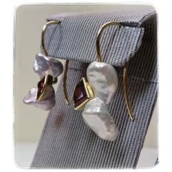 Gelbgold-Ohrhänger mit...